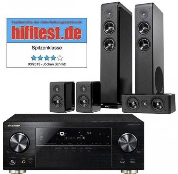 Pioneer VSX-924-K Netzwerk 7.2 Receiver, WLAN + Audio Pro Avanto 5.0 Lautsprecherset für 749€ @ Cyberport