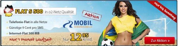 DeutschlandSim Flat S(Monatlich Kündbar)12,95mtl und Mobil in Deutschland ev 1Jahr Kostenlose bestellbar