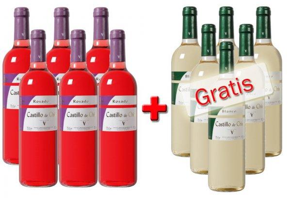 Weinvorteil - Sammeldeal für Weinpakete, ab 1,29€/Flasche