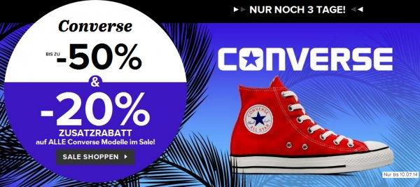 Converse Chuck Taylor All Star Schuhe bis zu 52% reduziert + kostenloser Versand