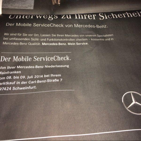 Kostenloser Service Check für Mercedes Benz Fahrzeuge in Schweinfurt