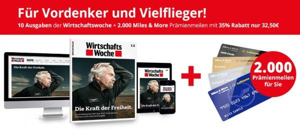 10x WiWo + 2000 Miles&More Meilen für zusammen 32,50€