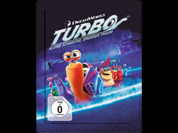[Lokal[ Berlin Saturn Alexanderplatz Turbo - Kleine Schnecke, großer Traum (3D, Exlusive Steelbookedition) Abenteuer 3D BD&2D BD, Blu-Ray