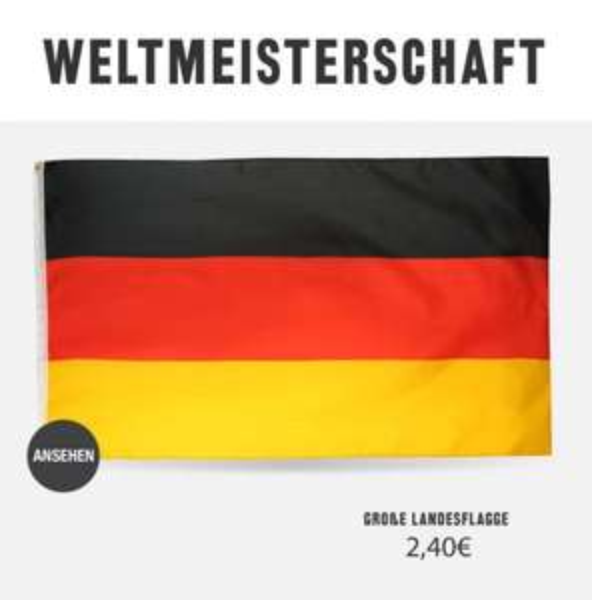 Sports Direct Deutschland Fahne günstig
