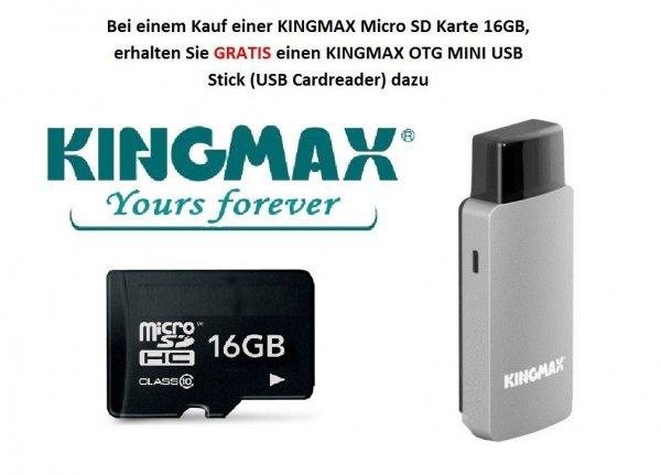 KINGMAX microSD OTG + wahlweise 8GB/16GB/32GB MicroSD Card
