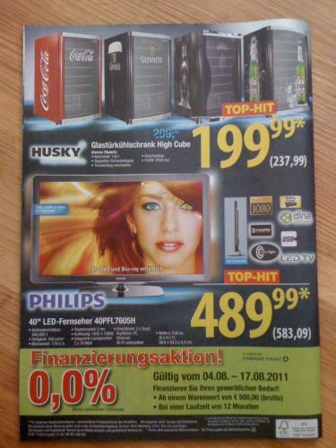 """Philips 40"""" LED-Fernseher 40PFL7605H für 583,09€ @Metro Cash & Carry Deutschland"""