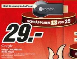 (Media Markt Lokal) Hamburg+Schleswig-Holstein Google Chromecast HDMI Streaming Media Player