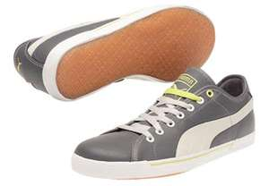 Puma Benecio Leather Drip in GRAU