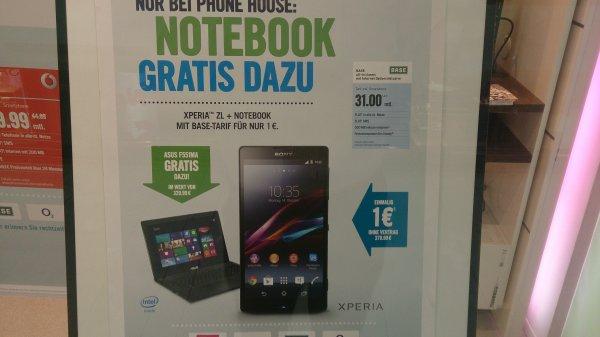 Sony Xperia ZL mit gratis Laptop