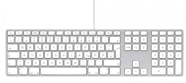 Apple Keyboard mit Ziffernblock (Deutsch) QWERTZ für 38€ @Gravis