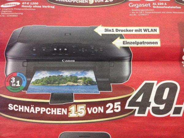 Canon MG5550 3in1 Drucker mit WLAN [Media Markt Hamburg]