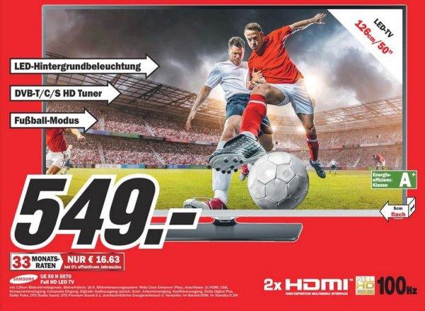[Lokal - MM Augsburg] Samsung UE50H5070 LED TV, Triple Tuner, 100Hz - 130,-€ unter Idealo!!!