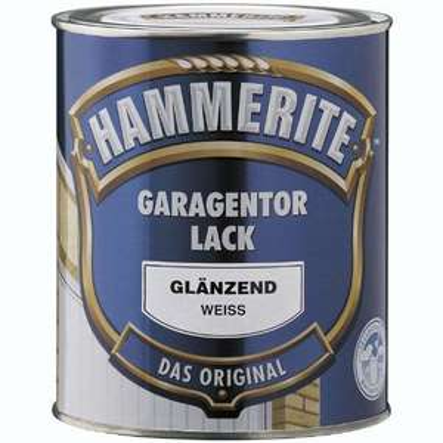 HAMMERITE Garagentorlack 0,75L Seidenmatt WEISS