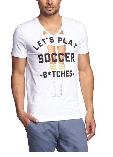 TOM TAILOR Denim Herren T-Shirt world cup special print tee