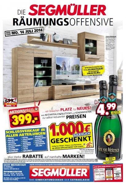 [Lokal Weiterstadt] Fürst von Metternich Riesling Sekt für 4.99 EUR/Flasche