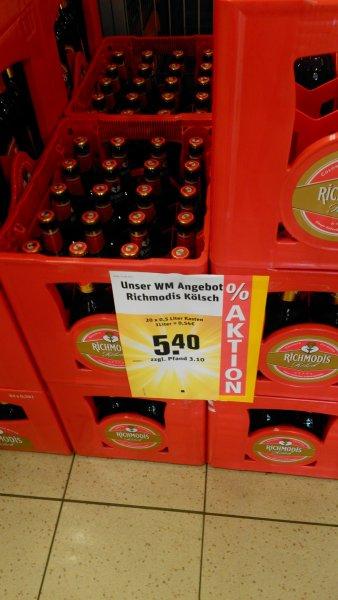 Kasten (10 Liter) Richmodis Kölsch für 5,40€ @Rewe Düsseldorf [lokal?]