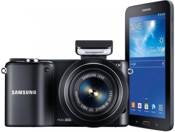 Samsung-Set bestehend aus: Samsung NX2000 Kit 20-50 mm + Galaxy Tab 3 7.0 Lite für 279€ @amazon