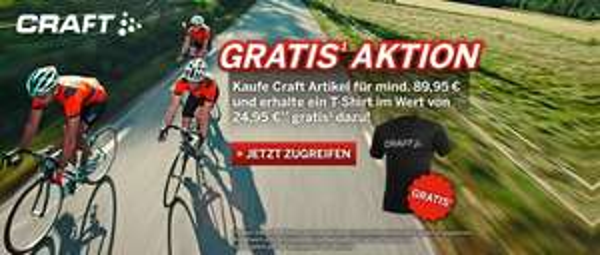 25 € Craft T-Shirt umsonst bei 90 € MBW