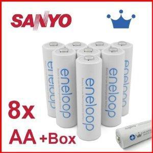 8x Sanyo Eneloop AA oder AAA 13,99 bzw. 11,49 € ohne Gutschein-Tricksereien
