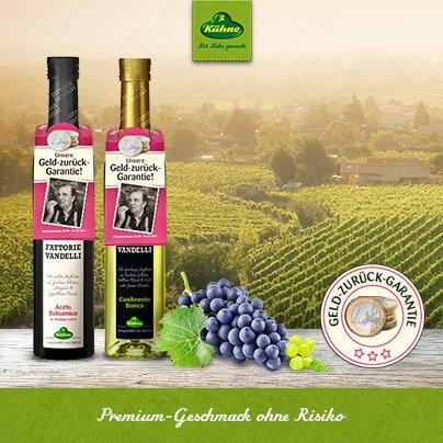 Kühne Premium Balsamicos von Fattorie Vandelli - Geld zurück Garantie Zufriedenheit