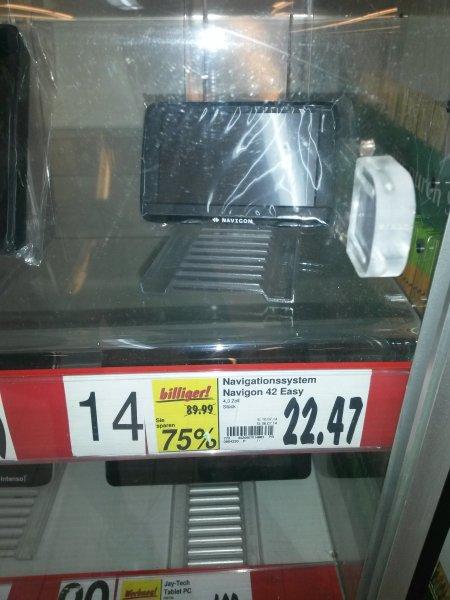 [Lokal Kaufland Amberg] Navigon 42 Easy für 22,47€