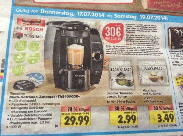 (Update- jetzt Bundesweit) Tassimo TAS4000DE mit 30€ Gutschein ab 17.07