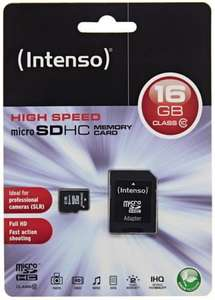 Ebay WOW 12.07: Intenso 16 GB Micro SDHC mit Adapter Class 10