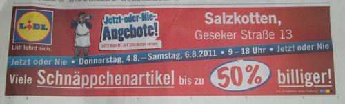 OFF/Salzkotten: LIDL Schnäppchenverkauf *Restverkauf bis zu 50% billiger*