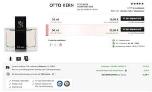 OTTO KERN - Signature 100ml EdT für 35,80€ inkl Versand @ Flaconi