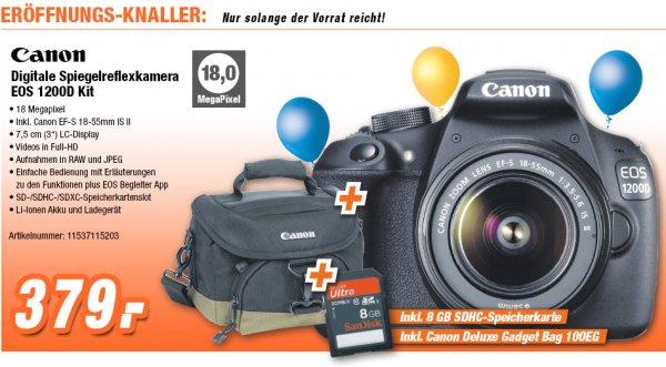 Canon EOS 1200D Kit 18-55 mm [Canon IS II] mit viel Zubehör