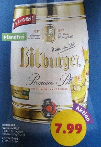 [PENNY] Bitburger Premium Pils 5 Liter Partyfass für 7,99€ (Pfandfrei)