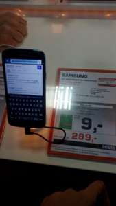 [Lokal Saturn Bremen] Samsung Galaxy S4 Active blue 299