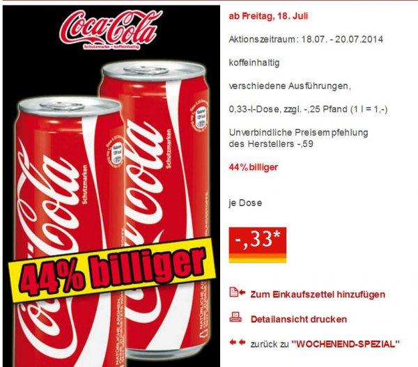 Coca Cola Dose 0,33L für 0,33€ @ Norma bundesweit