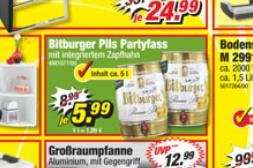 [POCO vermutlich bundesweit] 5L Bitburger Bierfass, Zapfässchen für z.B. Bier Maxx