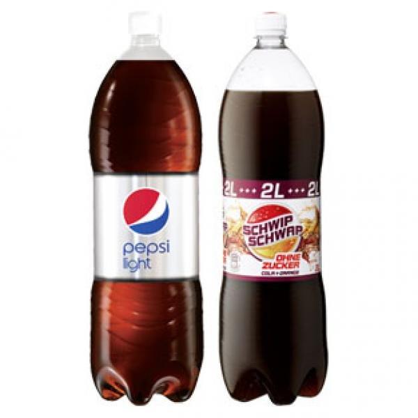 Pepsi oder SchwipSchwap (versch. Sorten) - 2L für 0,73 EUR