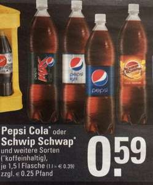 [Edeka] Pepsi: 1,5l für 0,59€