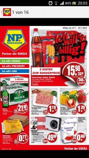 [lokal NP-Discount] 2x Coca-Cola und Äquivalente
