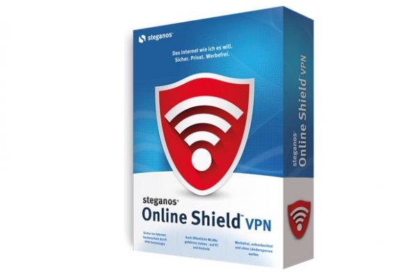 Steganos Online Shield VPN (Computer Bild) - 2000 MB monatlich (1 Jahr)