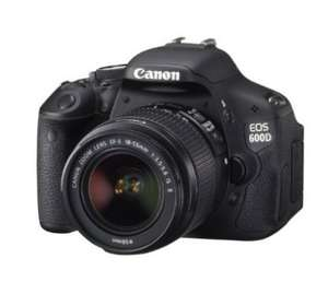 Canon EOS 600D SLR-Digitalkamera inkl. EF-S 18-55mm 1:3,5-5,6 IS II / 468,25 EUR [Amazon.it]