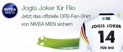 Gratis DFB-Fan-Shirt von NIVEA MEN beim Kauf von NIVEA MEN Produkten ab einem Wert von 12 Euro