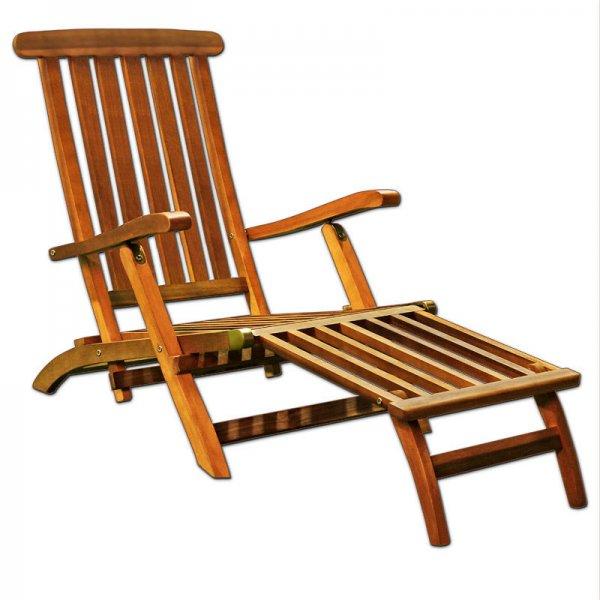Deckchair Holz Sonnenliege für 49,95€ @ebay