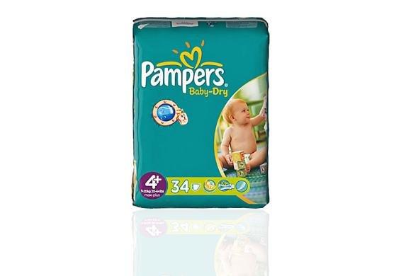 [Vorratspack] 248 Pampers Windeln Baby Dry Größe 4+ für 49,99€ frei Haus