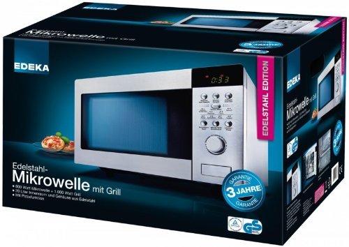 EDEKA AG 820 AKI Mikrowelle mit Grill 20 L 800 W