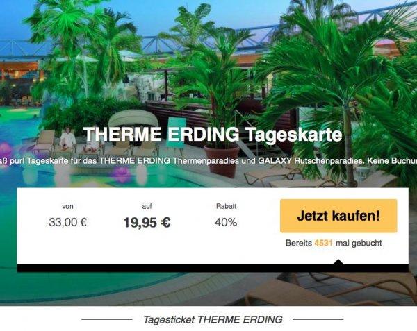 Therme Erding bei München - Thermen-Tageskarte für 19,99€ statt 33€!