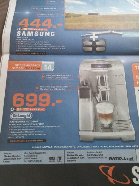 Delonghi Primadonna S De Luxe ECAM.28.466.MB Kaffeevollautomat Lokal 699€