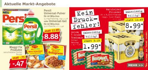 Kiste Warsteiner 8,99,-€ / 5 * leckere Bratmaxe 1,99,- beim combi