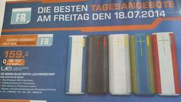 (lokal Saturn Kassel) UE BOOM Bluetooth Lautsprecher