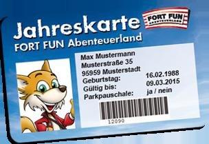 Jahreskarte Fort Fun Sauerland ermoeglicht viele freie Eintritte (Walibi, Bellevaerde, parc Asterix,...)