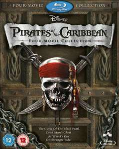 Pirates of the Caribbean Box Set (1-4 plus bonus disc) Blu-ray