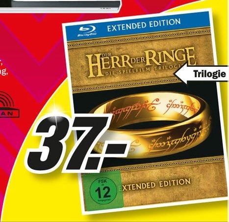 Der Herr der Ringe - Die Spielfilm Trilogie Blu-Ray (Extended Edition) für 37€ Lokal [Mediamarkt Neuss]